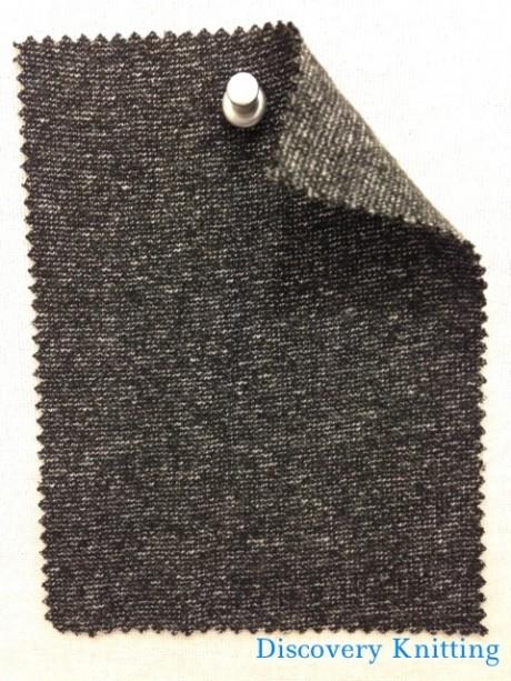 661 T-CV Black Marl 1x1 Rib