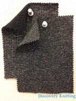 Black Marl 643 Loopback w matching 1x1 Rib 661T-CV