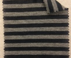 Black /Mid Grey Melange Stripe