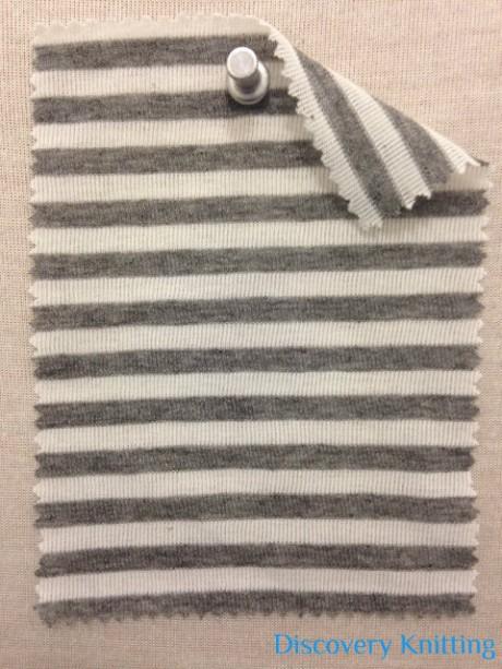 218 S -PV-RWGM  Ecru/Mid Grey Melange Stripe