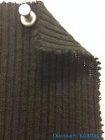 625-CN -Blk  2x1 Slubby Rib Black