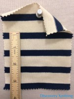 687 -C23C  Breton Stripe Jersey Inch Ruler