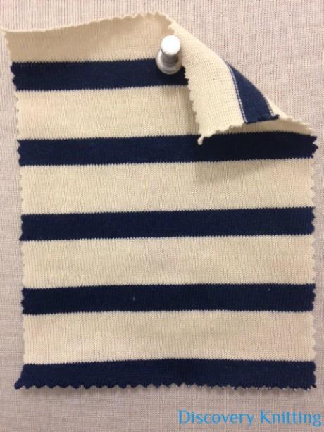 687 -C23C Breton Stripe Jersey Ecru/Navy
