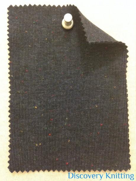 712 T-VCP-N  Navy Tweed 1x1 Rib