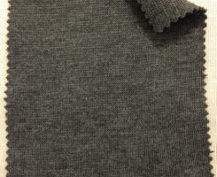 9122 T-PVE 1x1 Lycra Rib Charcoal Melange