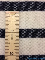 Ecru Denim Stripe Loopback Ruler Inches