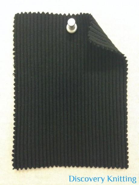 348-CE  Chunky 2x1 Rib Black