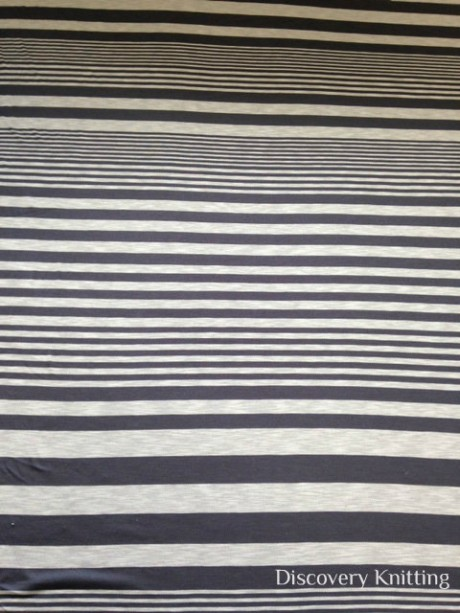 638-VN-BlkEcr Arabella Maxi Slub Stripe Jersey BLACK/ECRU
