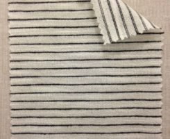 696-VN Pencil Stripe: Ecru/Charcoal