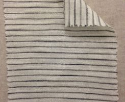 696-VN Pencil Stripe: Ecru/Grey