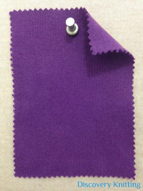 1814 T-C-Purp  1x1 Rib  Purple