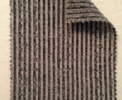 742-PV  Vertical Stripe Distressed 2x1 Black/Natural
