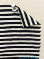 758 S-MP -BlkEc  Narrow Stripe Jersey Black/Ecru