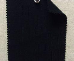 861-OG-Blk Organic Cotton 1x1 Rib Black