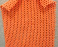 767 -PC-Orng  Cotton Poly Eyelet Orange