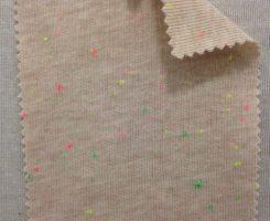 2414 T-CVP-VB  1x1 Rib Vintage Beige Neon Confetti