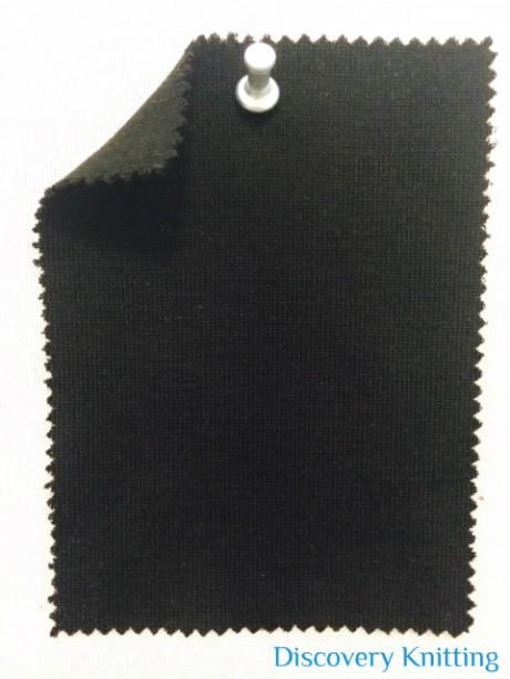 779 T-WMP-Blk 1x1 Rib Mercerized Merino Wool Modal Poly BLACK