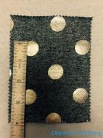 PR 811 LB-C-GDot Gold Large Dot Foil Pring INCH Ruler