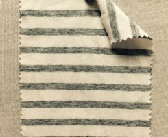 5883 S -VE-RWGM  Lycra Jersey Stripe Ecru/Grey Melange