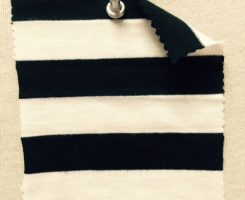 6267 S-C-BlkOP Stripe Jersey Black/White