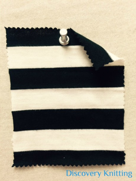 6267 S-C-BlkOP Stripe Jersey Black/White