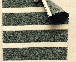 807 S-CBE -BJN  Black Jaspe/Natural Lycra Stripe Jersey