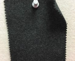 001 G-CM  2x1 Rib Charcoal Melange # 608