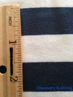 029 S-AVE-TreEc Tree/Ecru Stripe w Ruler Inches