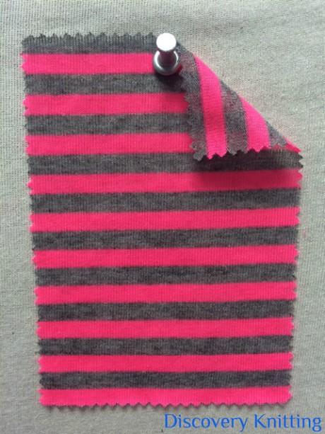 218 S-PV Jersey Stripe Pink/ Mid Grey Melange