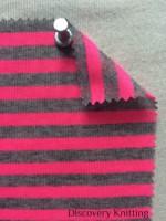 218 S-PV Jersey Stripe Pink /Mid Grey Melange