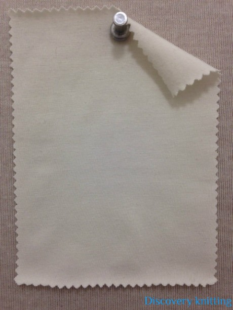 635-BE-RW  Heavy Bamboo Lycra Jersey Raw White
