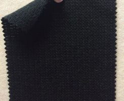 672 LB-CVL-Blk Pique Loopback Cotton Viscose LINEN -BLACK