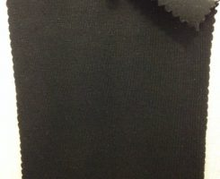 685-CE -Blk  Combed Cotton Lycra Jersey  Black