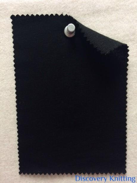 852 LB-WMPE-Blk Loopback Mercerized Merino Wool Modal Poly Lycra ~Black