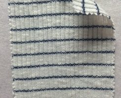 755 S-CND Cobweb Stripe 2x1 Rib Ecru /Navy