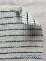 755 S-CND Cobweb Stripe 2x1 Rib Ecru / Navy