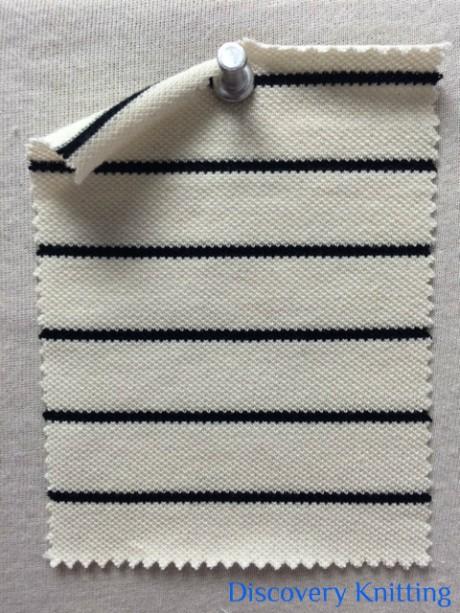 815 S-OG-NatBlk  Pique Stripe Natural /Black