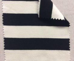 786 S-BVPE-BlkSN  Stripe Jersey Bamboo Visc Poly Lycra BLACK /NATURAL
