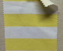 PR 533-OGE-YelW  Printed Organic Lycra Jersey Yellow /White Stripe
