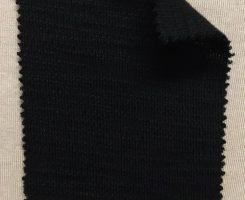 852 -DWP -Blk Heavy Merino Blend Slub Interlock BLACK