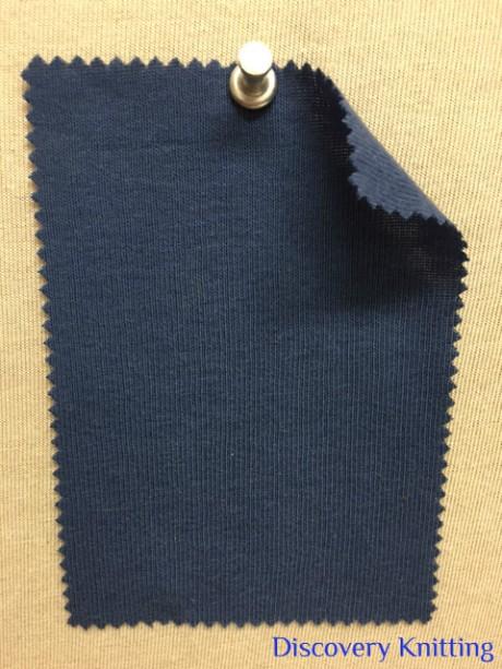 604-OG-OBlu OLD BLUE 28842 Organic 1x1 Rib