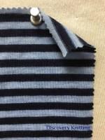 782 T S -W -Indg  Extrafine Merino Wool Stripe Jersey Distressed Indigo