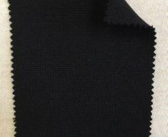 839 T-OGE-Blk  BLACK Organic Cotton Lycra Heavy 1x1 Rib