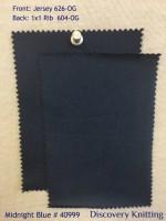 MIDNIGHT BLUE # 40999 Front: Jersey 626-OG-MidBlu  Back: 1x1 Rib 604-OG-MidBlu