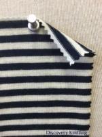 782 T S -W-NvyE Merino Wool Stripe Jersey NAVY /ECRU