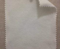 CD 596 -OG-RW COATED Organic Cotton Interlock Raw White