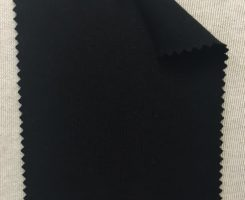 667-AVE-Blk Low Pill Viscose 4%  Lycra Jersey BLACK