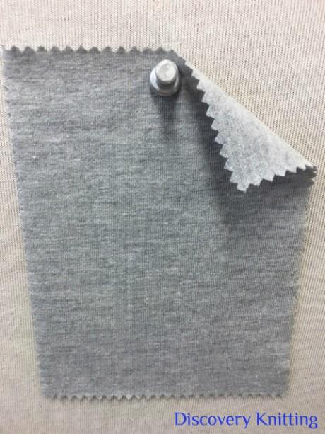 667 G-OGPE -11 ORGANIC Cotton /Poly /Lycra Jersey GREY MELANGE # 11