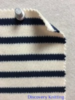 846 S-C-ENvy  Stripe Heavy Interlock Ecru /Navy