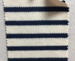846 S-C-ENvy  STRIPE HEAVY INTERLOCK  Ecru / Navy
